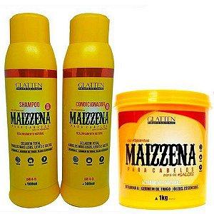 Kit Glatten Maizzena Shampoo+ Condicionador + Máscara 240g