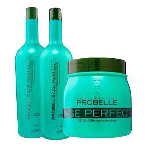 Kit Probelle Age Ultra - Máscara/shampoo/condicionador 1l