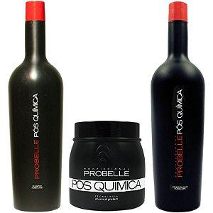 Kit Probelle Pós-química - Máscara/shampoo/condicionador 1l