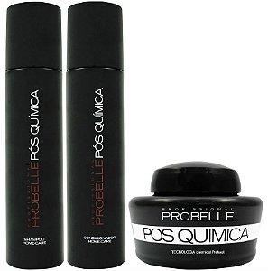 Kit Probelle Pós-química - Máscara/shampoo/condicionador 250ml
