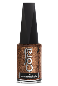 Esmalte Cora 9ml Black 11 Glitter Copper