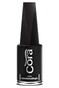 Esmalte Cora 9ml Black 12 Preto Fosco