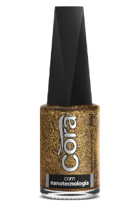 Esmalte Cora 9ml POP Glitter Golden Perfect