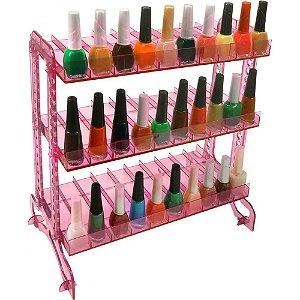 Display de esmalte rosa comum