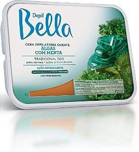 Cera Depilatória Algas co Menta Depil Bella 1kg