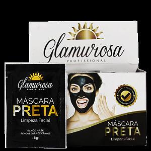 glamurosa mascara preta limpeza facial