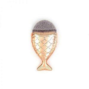 Pincel de maquiagem Sereia Dourado
