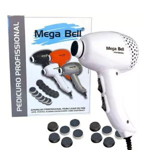 Pedicuro Profissional Branco Para Lixar Os Pés 110V Mega Bell