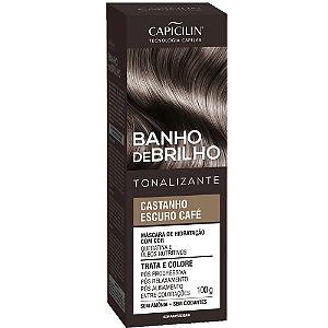 Tonalizante Banho de Brilho Escuro Café 100g Capicilin
