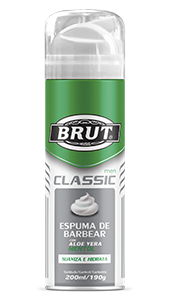 Espuma de Barbear Brut Men Classic 200ml