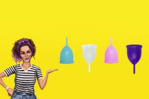 Novo Coletor Menstrual Violeta Cup - Tipo A