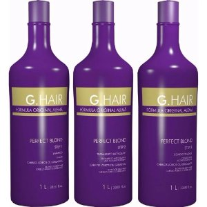 Escova Progressiva G.Hair Perfect Blond 3x1 Litro