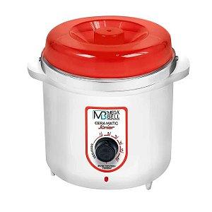 Panela Termocera Junior Mega Bell Branco e Vermelho - 400g