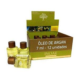 Kit Caixa de Ampola Argan Oil  (Óleo de Argan) 12 unidades 7 ml - Inoar