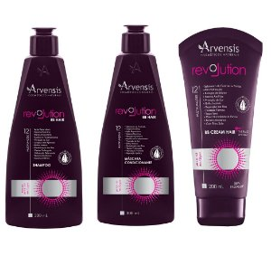 Kit Arvensis Revolution Bb Hair Vegano 3 Produtos