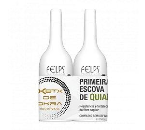 Felps Escova Progressiva  XBTX de Quiabo Okra 2x250ml