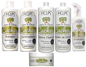 Kit Felps Cachos Azeite de Abacate 500 ml 6 Produtos
