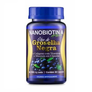 Nanobiotin A Hair Óleo de Groselha Negra com Colágeno 30Caps