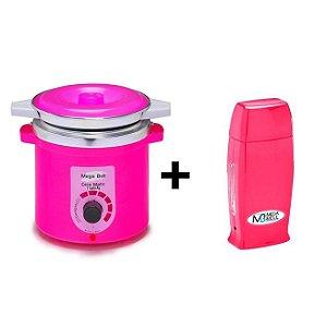 Panela Termocera Mega Bell 900g Pink + Roll-on Pink