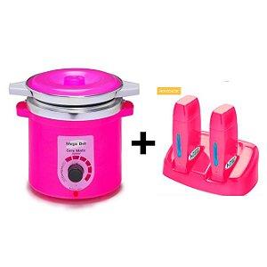 Termocera Pink +Refil MegaBell 400g +Base Dupla +RollOn Pink