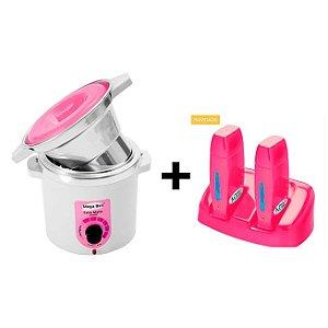 Termocera Rosa +Refil MegaBell 400g +Base Dupla +RollOn Pink