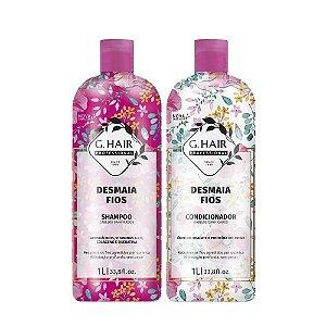 Kit Shampoo e Condicionador G.Hair Desmaia Fios 2x1L