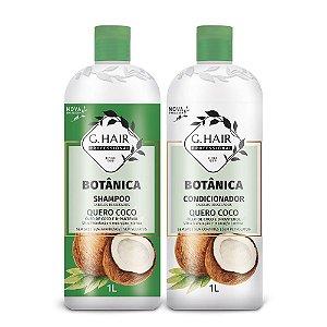 Kit G.hair Botânica Shampoo + Condicionador Quero Coco 2x1L
