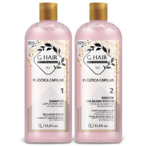 Kit G.Hair Plástica Capilar Marroquina 2x1L