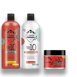 Kit G Hair Top 10 Shampoo+Condicionador 1l  +Máscara500g