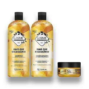 Kit G-Hair + Que Necessário Shampoo +Condi. 1l  Mascara250g