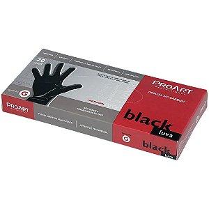 Luva ProArt Latex Black G com 20 Unidades