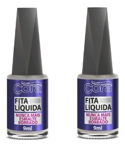 2 Fitas Líquidas C/ Pincel Flocado Cora 9ml