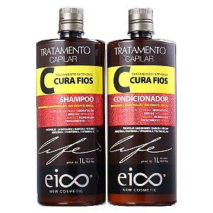 Kit Eico Tratamento Cura Fios (Sh+Cond 1L)