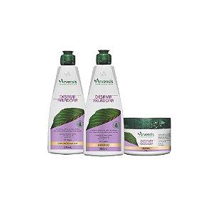 Kit Arvensis Desamarelador Vegano - Shampoo / Cond / Máscara