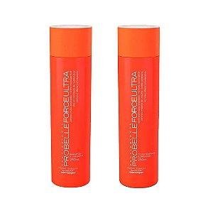 Kit Force ultra Profissional Probelle Shampoo e Cond 250ml