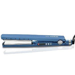 Prancha de Cabelo Chapinha MQ Titanium 450F Azul Bivolt