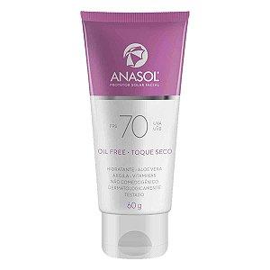 Protetor Solar Facial Oil Free Toque Seco FPS 70 UVA/UVB 60g - Anasol