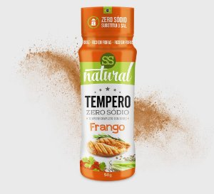 Tempero Zero Sódio Frango 50g - SS Natural