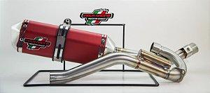 Ponteira + Curva De Escape Viola Racing Crf230 Ms1/mx