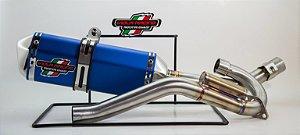 Ponteira + Curva De Escape Viola Racing Crf 230 Ms1