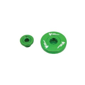 KIT TAMPA GERADOR KAWASAKI KXF250 04-10 VERDE Red Dragon