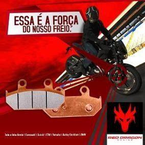 PASTILHA FREIO (DIANTEIRA) SEMI METALICA HONDA CBR250R 11-19 CBR500R 13-19 CB600F HORNET 04-19 SHADOW 600 94-03 SHADOW 750 00-19 VFR800F 14-19 CBF1000 06-19 KAWAZAKI Z750 07-19 Z800 E 13-19 (TRASEIRA) YAMAHA MT 01 07-19 RED DRAGON