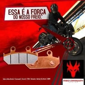 PASTILHA FREIO (TRASEIRA) SEMI METALICA HONDA CR125\250 02-19 CRF150 07-19 CRF250\450R 04-19 CRF250X\450X 04-19 CRF250F 18-19 RED DRAGON