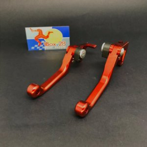MANETES RETRATEIS USINADOS HONDA CRF250\450R 07=> CRF250\450RX 17=> RED DRAGON