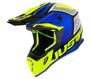 CAPACETE JUST1 J38 BLADE BLUE/YELLOW/BLACK GLOSS