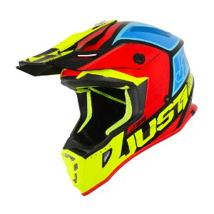 CAPACETE JUST1 J38 BLADE YELLOW/RED/BLUE/BLACK GLOSS
