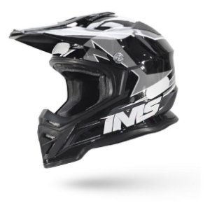 Capacete Motocross Ims Army Cinza