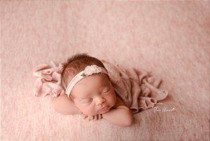 Manta Frost - Rosa Bebê