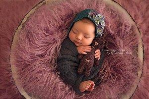 Pelo de Ovelha Curly - Violeta Claro