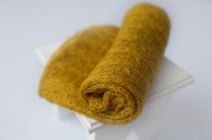 Wrap Mohair - Amarelo Queimado